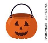 basket halloween pumpkin... | Shutterstock .eps vector #1187431756