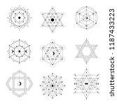 sacred geometry symbols set.... | Shutterstock .eps vector #1187433223