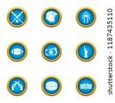 domestic sport icons set. flat... | Shutterstock .eps vector #1187435110