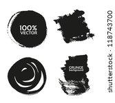 vector grunge handmade black...   Shutterstock .eps vector #118743700