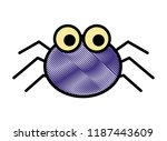 cute spider cartoon scary animal | Shutterstock .eps vector #1187443609