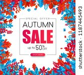 autumn 50  sale. special offer. ... | Shutterstock .eps vector #1187445493