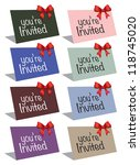 eight colorful cards with a... | Shutterstock .eps vector #118745020