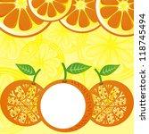 orange pattern background... | Shutterstock . vector #118745494