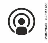 podcast vector icon | Shutterstock .eps vector #1187455120