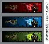 halloween colorful horizontal... | Shutterstock .eps vector #1187456593