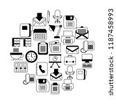 business office supplies... | Shutterstock .eps vector #1187458993