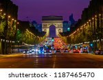champs elysees and arc de... | Shutterstock . vector #1187465470