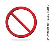 no sign isolated for no smoking ... | Shutterstock .eps vector #118746850