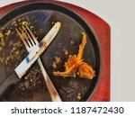 empty pork chop steak hot pan... | Shutterstock . vector #1187472430