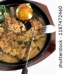 home made steak pork chop with... | Shutterstock . vector #1187472460