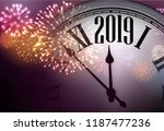 2019 new year background with... | Shutterstock .eps vector #1187477236
