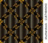 gold 3d grid vector seamless...   Shutterstock .eps vector #1187484043