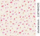 ditsy floral seamless repeat of ... | Shutterstock .eps vector #1187484250