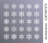 cute snowflakes collection...   Shutterstock .eps vector #1187487373