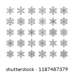 cute snowflakes collection... | Shutterstock .eps vector #1187487379