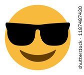 emoji with dark sunglasses face ...
