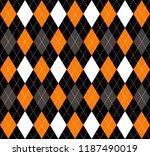 halloween argyle plaid.... | Shutterstock .eps vector #1187490019