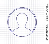 profile  person in circle. hand ... | Shutterstock .eps vector #1187490463