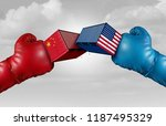 trade war china us or united... | Shutterstock . vector #1187495329