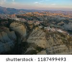 view of aliano  a town in the... | Shutterstock . vector #1187499493