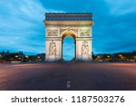 arc de triomphe and champs... | Shutterstock . vector #1187503276