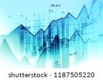 stock market or forex trading... | Shutterstock . vector #1187505220