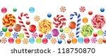 colorful candies  fruit bonbon  ... | Shutterstock . vector #118750870
