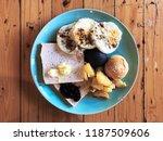 breakfast dish with bread... | Shutterstock . vector #1187509606