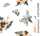 seamless floral pattern.... | Shutterstock .eps vector #1187510980