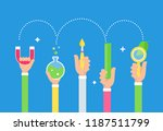 steam education approach. arts... | Shutterstock .eps vector #1187511799