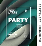 night party banner template for ...   Shutterstock .eps vector #1187516596