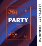 night party banner template for ...   Shutterstock .eps vector #1187516599