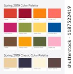 spring   summer 2019 color... | Shutterstock .eps vector #1187522419