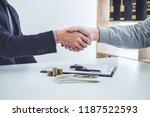 handshake of cooperation... | Shutterstock . vector #1187522593