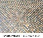 criss cross small tiles...   Shutterstock . vector #1187524510