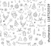 seamless pattern of christmas... | Shutterstock .eps vector #1187525539
