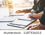 business people meeting... | Shutterstock . vector #1187526313