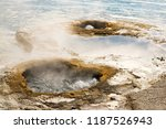 lakeshore geyser at the west... | Shutterstock . vector #1187526943