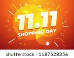 11.11 shopping day sale poster... | Shutterstock .eps vector #1187528356
