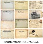 old postcards set | Shutterstock . vector #118753066