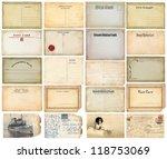 old postcards set | Shutterstock . vector #118753069