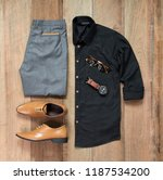 men's casual outfits for man... | Shutterstock . vector #1187534200