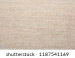 texture of natural linen fabric | Shutterstock . vector #1187541169