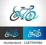 bicycle bike icon logo symbol... | Shutterstock .eps vector #1187544586