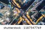 highway road intersection in... | Shutterstock . vector #1187547769