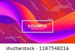 abstract gradient poster with... | Shutterstock .eps vector #1187548216