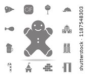 gingerbread man icon. web icons ...