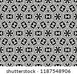 vector monochrome seamless... | Shutterstock .eps vector #1187548906