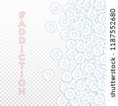 social media icons. social... | Shutterstock .eps vector #1187552680